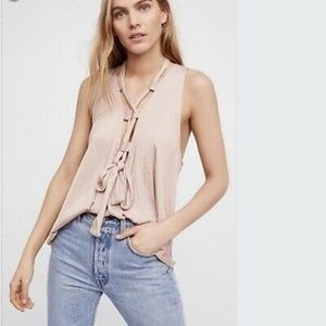 NWT Free people here with me cami in nude